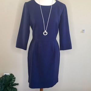 Cremieux Classic Navy Blue Sheath Dress Sz 10